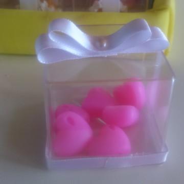 sabonete coração caixinha de acrilico