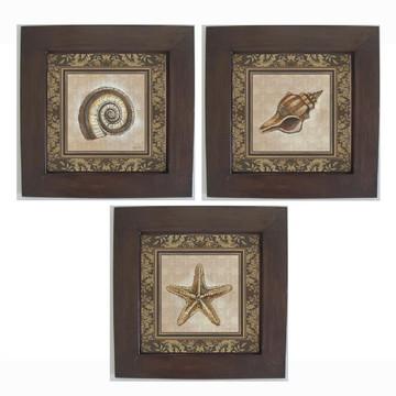 Trio de Quadros Decorativos Vintage
