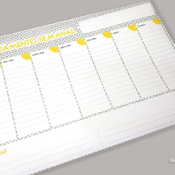 Planner de mesa (semanal) - bloco