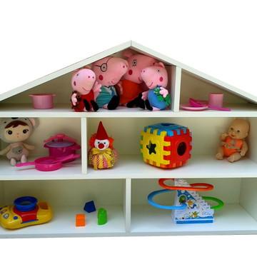 Casinha d bonecas estante de parede