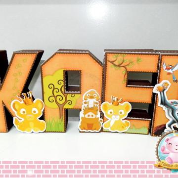 Letras 3D Rei Leão