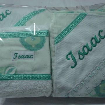 kit lençol bordado bebê