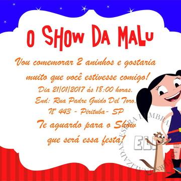 Convite O Show da Luna