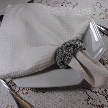 Porta guardanapo trançado prata