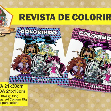 Revista Para Colorir MONSTER HIGH