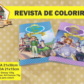 Revista Para Colorir PRINCESINHA SOFIA