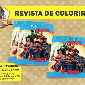 Revista Para Colorir LIGA DA JUSTIÇA