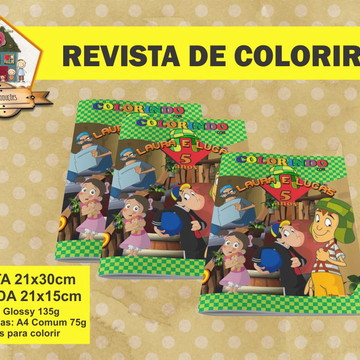 Revista Para Colorir CHAVES