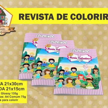 Revista Para Colorir PRINCESAS CUTE