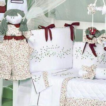 Kit Berço 150 FIOS Baby Flowers 10 pçs