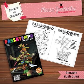 Livro de Atividades Tartarugas Ninja