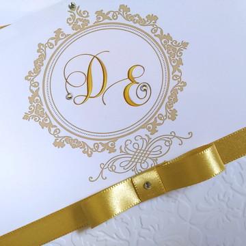 Convite de casamento c/ relevo