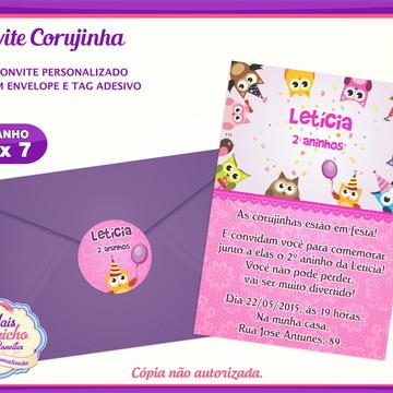 Convite Corujinha