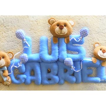 Porta Maternidade Ursinho Balões