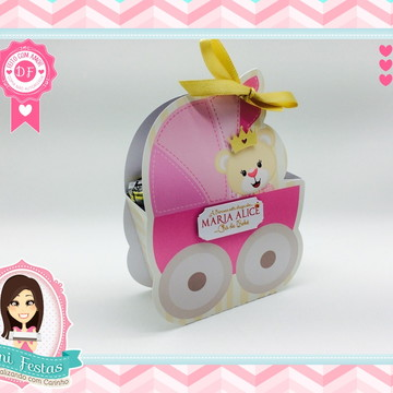 Caixa Carrinho de Bebê - Chá de Bebê