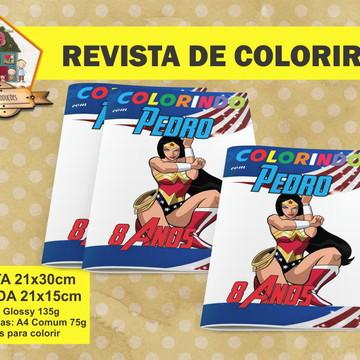 Revista Para Colorir MULHER MARAVILHA