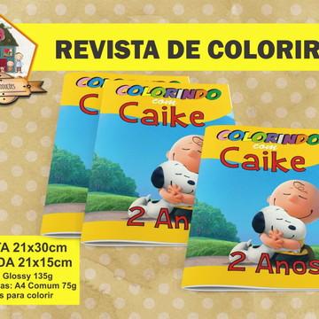 Revista Para Colorir SNOOPY