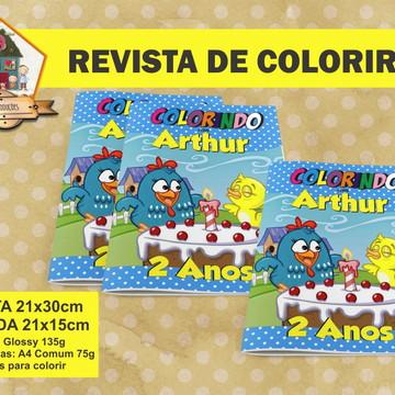 Revista Para Colorir GALINHA PINTADINHA