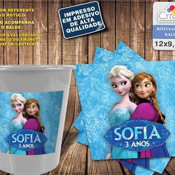 Rótulo Balde - Frozen (Elsa e Anna)
