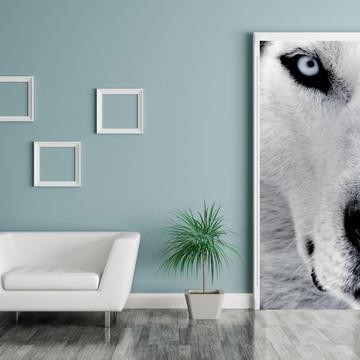 Adesivo Porta Decorativa Husky Siberiano