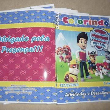 Livro Colorir Patrulha Canina