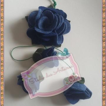 Chaveiro em flor de feltro