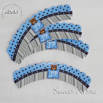 Wrapper (sainha) - Ursinho azul e marrom
