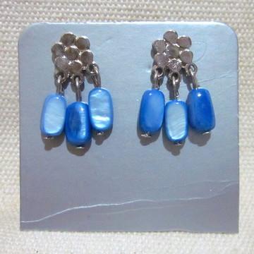 Brinco Madrepérola Azul