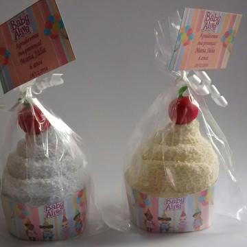 Cupcake de toalha Baby a live