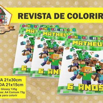 Revista Para Colorir Minecraft