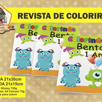 Revista Para Colorir MONSTRINHOS