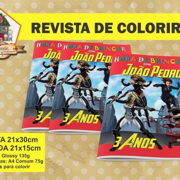 Revista Para Colorir Heroinas