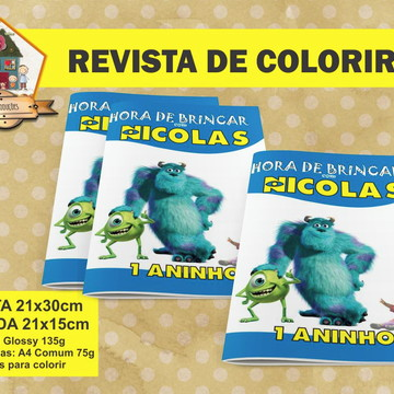 Revista Colorir MONSTROS S.A