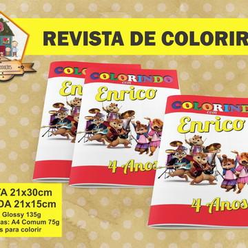 Revista Para Colorir ALVIN E OS ESQUILOS