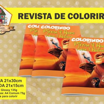 Revista Para Colorir REI LEÃO