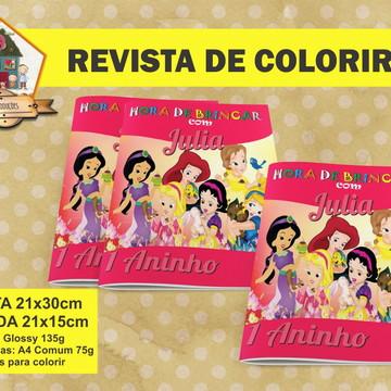 Revista Para Colorir PRINCESAS BABY
