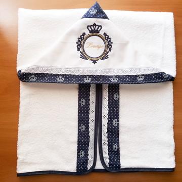 Toalha de banho com capuz Brasão