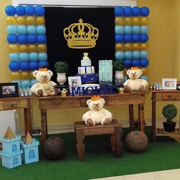 Decoração Urso Rei Rústica