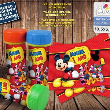 Rótulo Bolha de Sabão - Casa do Mickey