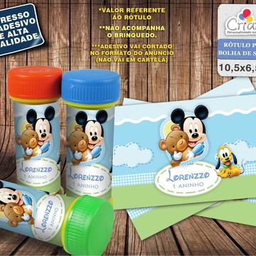Rótulo Bolha de Sabão - Mickey Baby