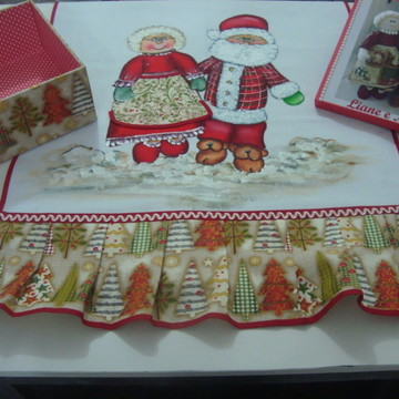 Pano Copa Natal e Caixa personalizada