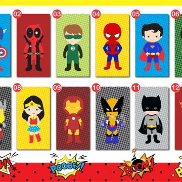 Quadro Super Heróis Baby