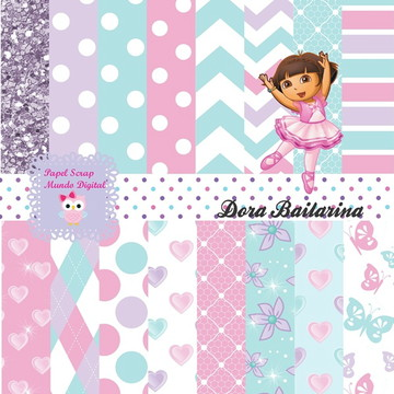 KIT PAPEL DIGITAL DORA BAILARINA 23-3