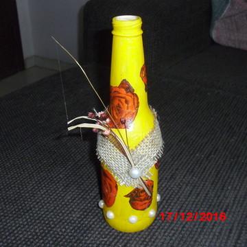 garrafas decoradas para cento de mesa