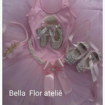 f95bd99150 Fantasia Bailarina Luxo Luxo Completa
