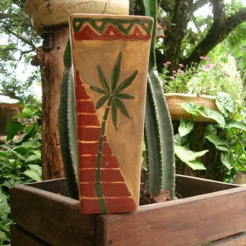 Vaso decorativo pintura tribal
