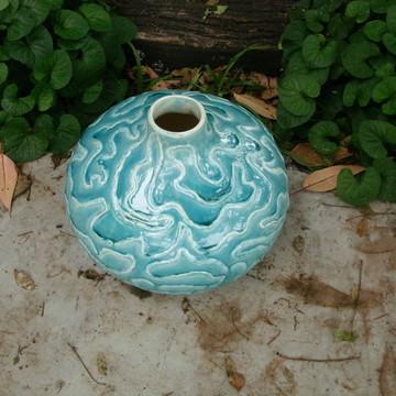 Jarra vaso decorativo de cerâmica