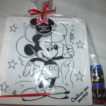 Kit Tela de Pintura Guache Mickey