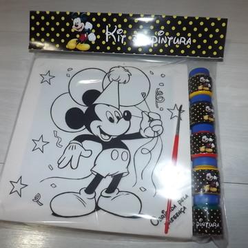 Kit Tela de Pintura Mickey com Lapela
