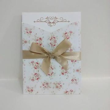Convite Casamento Floral 1